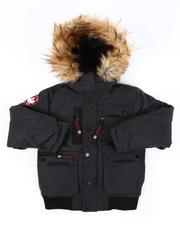 Canada Weather Gear - Bomber Jacket W/ Faux Fur Hood Trim (8-20)-2560784