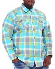 Button-downs - Yarn Dyed Plaid Woven Shirt (B&T)-2561584