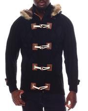 Sweatshirts & Sweaters - Chunky Crosshatch Toggle Hoodie-2562031
