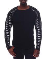 Sweatshirts & Sweaters - Herringbone Sleeve LS Raglan Knit-2562046
