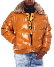 Big & Tall Faves - Faux Fur Collar Bomber Jacket (B&T)-2561346