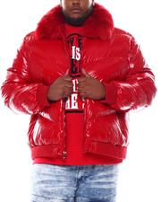 Big & Tall Faves - Faux Fur Collar Bomber Jacket (B&T)-2561371