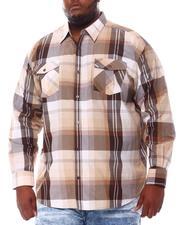 Button-downs - Plaid Woven L/S Shirt (B&T)-2561552