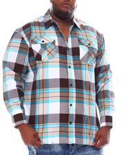 Button-downs - Yarn Dyed Plaid Woven Shirt (B&T)-2561599