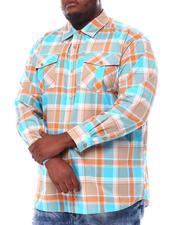 Button-downs - Yarn Dyed Plaid Woven Shirt (B&T)-2561603