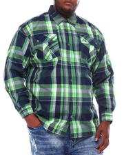 Men - Yarn Dyed Plaid Woven Shirt (B&T)-2561610