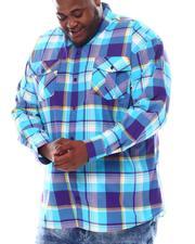 Button-downs - Yarn Dyed Plaid Woven Shirt (B&T)-2561638