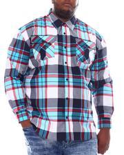 Button-downs - Yarn Dyed Plaid Woven Shirt (B&T)-2561658