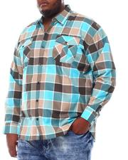 Button-downs - Yarn Dyed Plaid Woven Shirt (B&T)-2561588