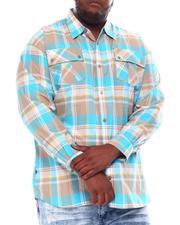 Big & Tall Faves - Yarn Dyed Plaid Woven Shirt (B&T)-2561564