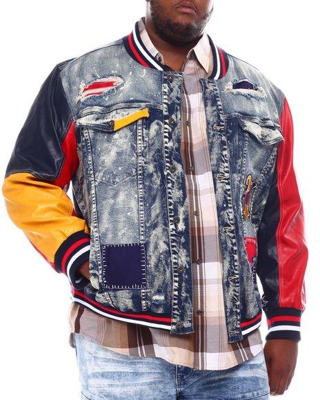 SMOKE RISE - Varsity Denim Jacket (B&T)