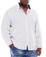 Big & Tall Faves - Printed Long Sleeve Woven Shirt (B&T)-2561714