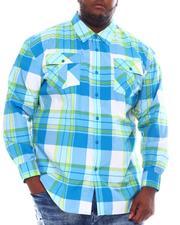 Big & Tall Faves - Yarn Dyed Plaid Woven Shirt (B&T)-2562509