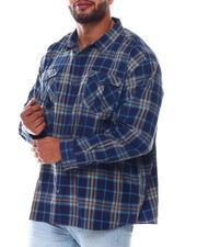 Big & Tall Faves - Plaid Woven Long Sleeve Shirt (B&T)-2562444