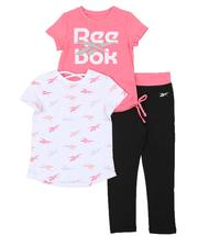 Sets - 3 Pc Vector Logo Tee, Printed Tee & Leggings Set (4-7)-2552654
