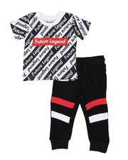 Infant & Newborn - 2 Pc Future Legend Print T-Shirt & Moto Jogger Pants Set (Infant)-2552783