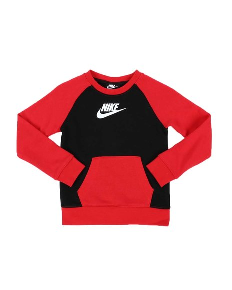 Nike - Color Block Kangaroo Pocket Crew Neck Pullover (4-7)