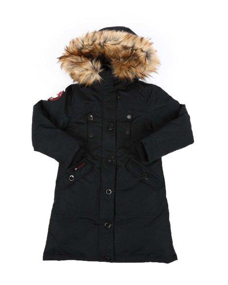 Canada Weather Gear - Faux Fur Trim Hood Long Parka Jacket (7-16)