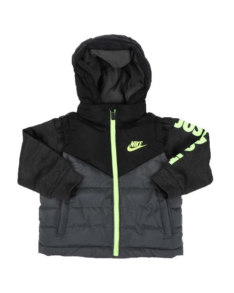 Nike - 2Fer Jacket W/ Therma Fit Sleeves (2T-4T)