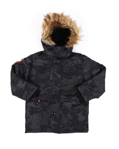 Canada Weather Gear - Hooded Parka Jacket W/ Faux Fur Trim (8-20)