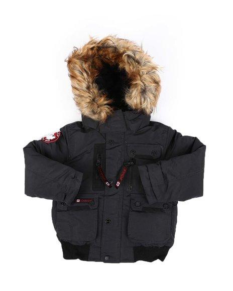 Canada Weather Gear - Bomber Jacket W/ Faux Fur Hood Trim (4-7)