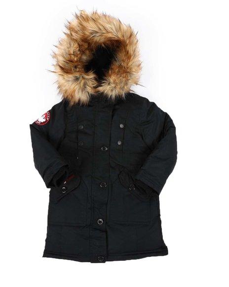 Canada Weather Gear - Faux Fur Trim Hood Long Parka Jacket (4-6X)