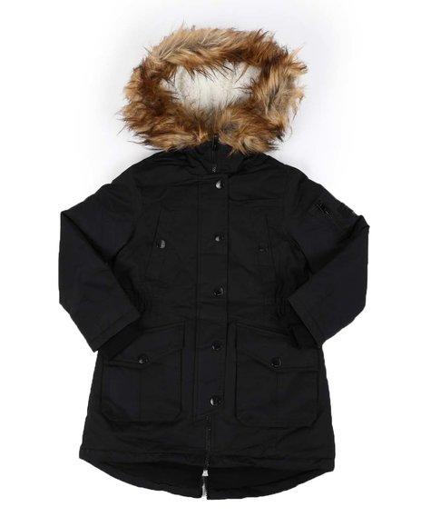 Diesel - Faux Fur Trim Hooded Parka Jacket (4-6X)