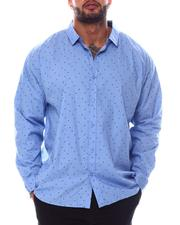Big & Tall Faves - Printed Long Sleeve Woven Shirt (B&T)-2562418