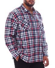 Big & Tall Faves - Plaid Woven Long Sleeve Shirt (B&T)-2562427
