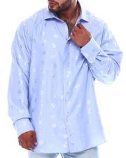 Big & Tall Faves - Anchor Gold Foil Long Sleeve Woven Shirt (B&T)-2562422