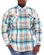 Big & Tall Faves - Yarn Dyed Plaid Woven Shirt (B&T)-2561544