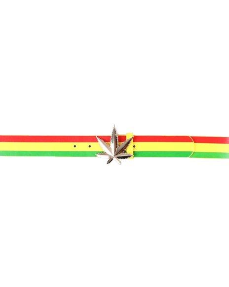 Buyers Picks - Leaf Buckle Rasta Belt