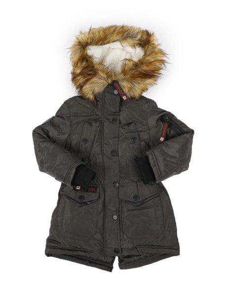 Canada Weather Gear - Faux Fur Trim Hood Parka Jacket (4-6X)