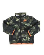 Outerwear - Camo Knitted Collar Quilted Jacket (2T-4T)-2559335
