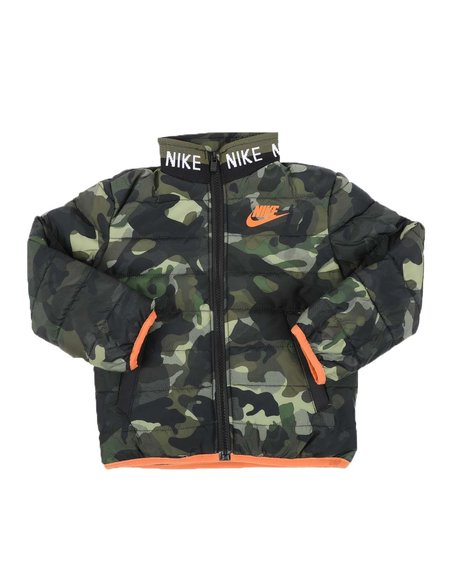 Nike - Camo Knitted Collar Quilted Jacket (2T-4T)