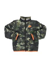 Outerwear - Camo Knitted Collar Quilted Jacket (4-7)-2559340
