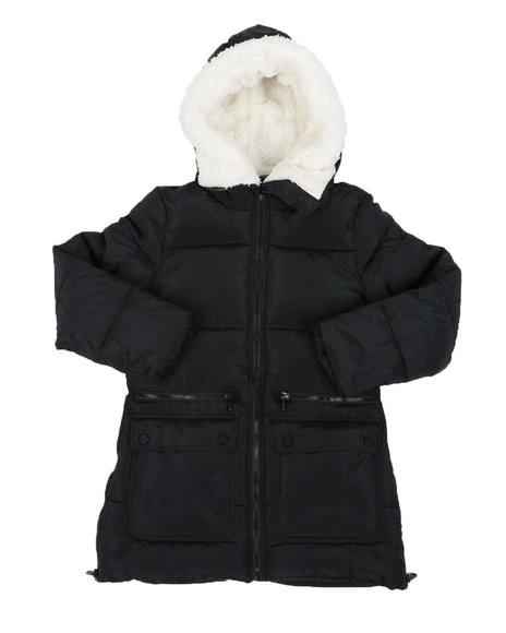 Steve Madden - Sherpa Lined Hood Puffer Jacket (7-16)