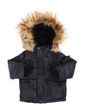 Heavy Coats - Hooded Parka Jacket W/ Faux Fur Trim (2T-4T)-2560723
