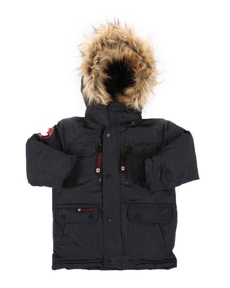 Canada Weather Gear - Hooded Parka Jacket W/ Faux Fur Trim (4-7)