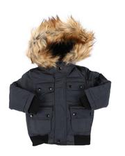 Heavy Coats - Hooded Bomber Jacket W/ Faux Fur Trim (2T-4T)-2560776