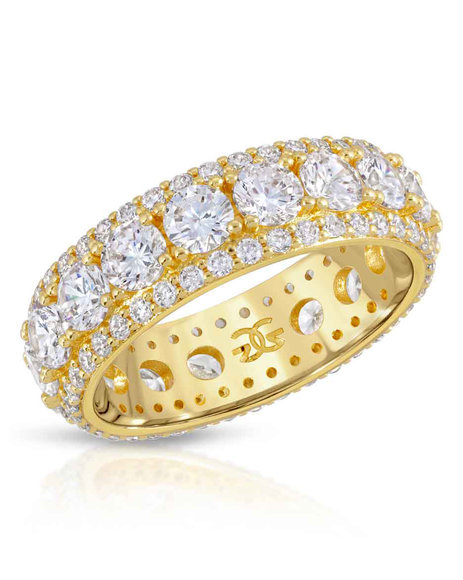 The Gold Gods - Diamond Kings Eternity Ring - Gold