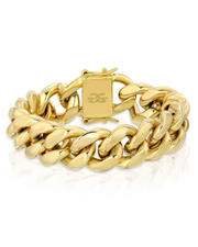 The Gold Gods - Miami Cuban Link Bracelet 18MM - Gold-2562398