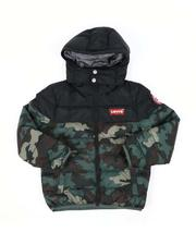 Levi's - Camo Chance Hooded Puffer Jacket (8-20)-2559466