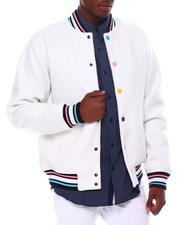 SWITCH - Wool Varsity Jacket w Multi Color Snap Button-2561145