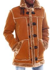 Jordan Craig - Faux Suede Binded Shearling Jacket-2561178