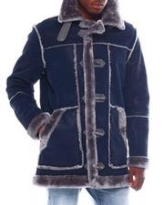 Jordan Craig - Faux Suede Binded Shearling Jacket-2561196
