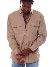 Button-downs - Contrast Dot Woven Shirt by Veno-2563189