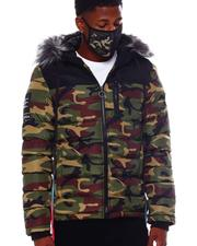 Men - Camo Puffer Coat w Mask-2563912