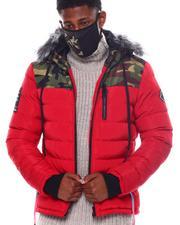 Heavy Coats - Camo Puffer Coat w Mask-2563792