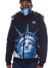 Men - NY Strong Puffer Coat w Mask-2563833